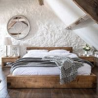 Pandon Solid Wood Bed Frame - Rustic Loft Bed